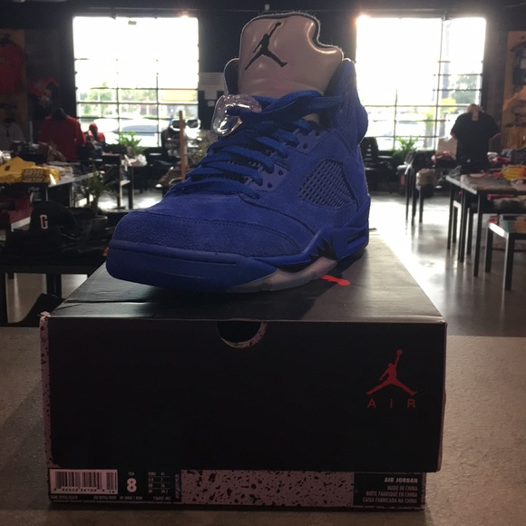 Air Jordan 5 'Blue Suede'